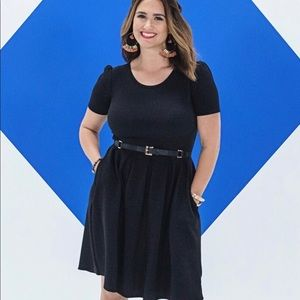 Lularoe Black Amelia Dress Size 2XL